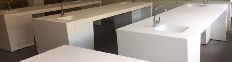Encimeras de Krion para Aula-Laboratorio en Colegio Logos. Las Rozas de Madrid
